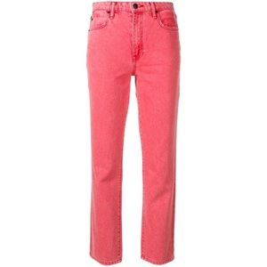 NWT Alexander Wang Red Straight Jeans